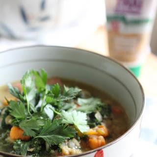 Thai Coconut Milk Lentil Vegetable Soup.