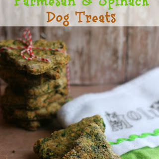 Homemade Parmesan & Spinach Dog Treats