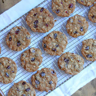 Maple Cranberry Oatmeal Cookies.