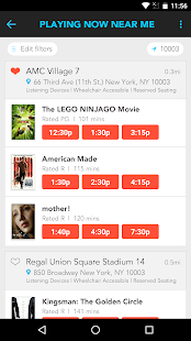 Moviefone - Movies, Trailers, Showtimes & Tickets-skjermdump – miniatyrbilde