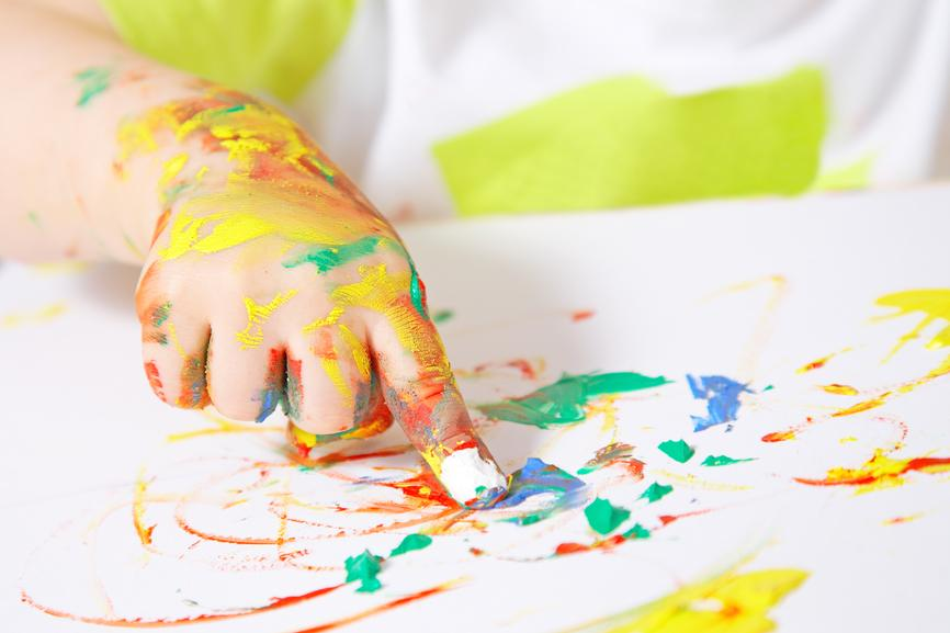 Nourish the whole child with finger painting! | Nourishing Our Children