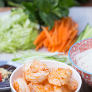 Prawn Rice Paper Rolls with Hoisin Dipping Sauce.