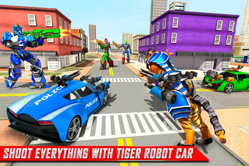 US Police Tiger Robot Game: Police Plane Transport 1.1.2 screenshots 4