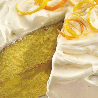 Citrus Cake with Lemon Whipped Cream Frosting.
