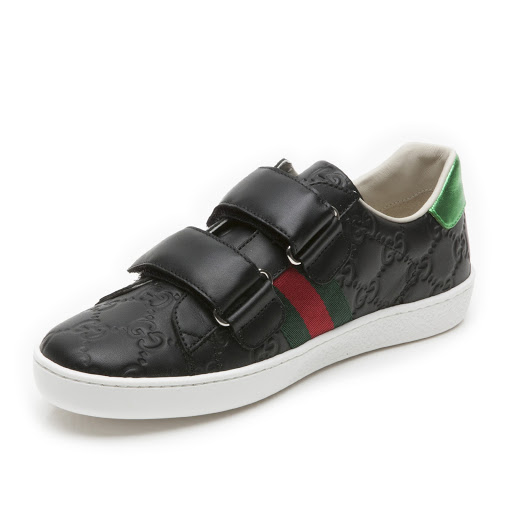 Thumbnail images of Gucci GG Leather Trainer Junior