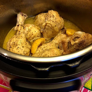Instant Pot Frozen Chicken Legs With Lemon And Garlic.