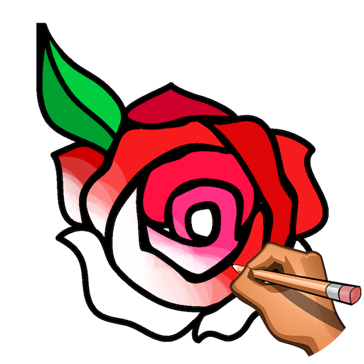 Learn to Draw Flowers: Draw, Glitter & Color Book Icon