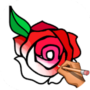Learn to Draw Flowers: Draw, Glitter & Color Book - Apps en