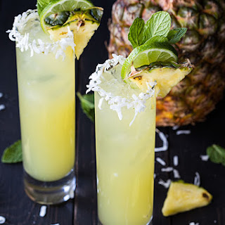 Pineapple Coconut Mojitos.