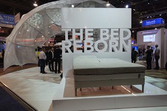 Photo: One of the first efforts at smart bed.    This one adjusts as you move, and if you snore, it lifts you up a bit to make you stop.   Though I fear that just means it wakes you up a bit, so I don't know if it's good for you.  But it's good for your partner.  One option would be to track if your partner is being kept awake, and only arouse you if that's happening.   It also warms your feet.