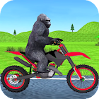 Jungle Animals Motorbike Adventure icon