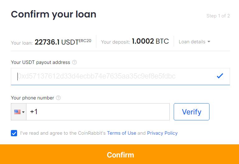 Confirm Loans