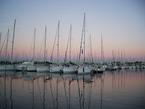 Photo: An early start, sunrise at Port Camargue, one of the largest marinas in the world