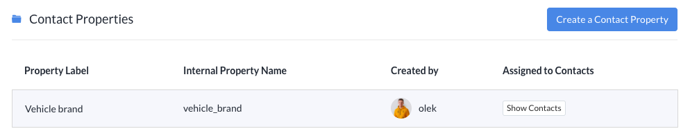 To access the Contact Properties section - head over to the Settings > Contact Properties in your Tidio panel