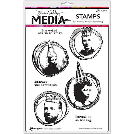 Dina Wakley Media Cling Stamps 6X9 - Weird Is Good