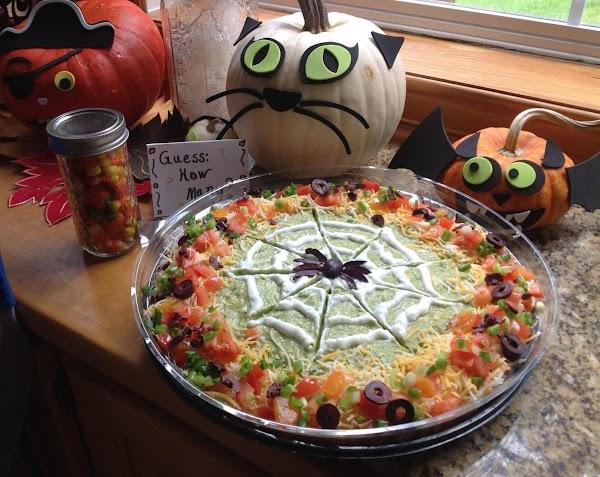 Halloween 7 Layer Bean Dip Recipe