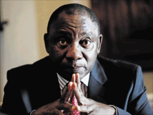 ON THE HOT SEAT              : D              eputy President Cyril Ramaphosa