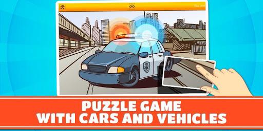自動車と乗り物キッズパズル2