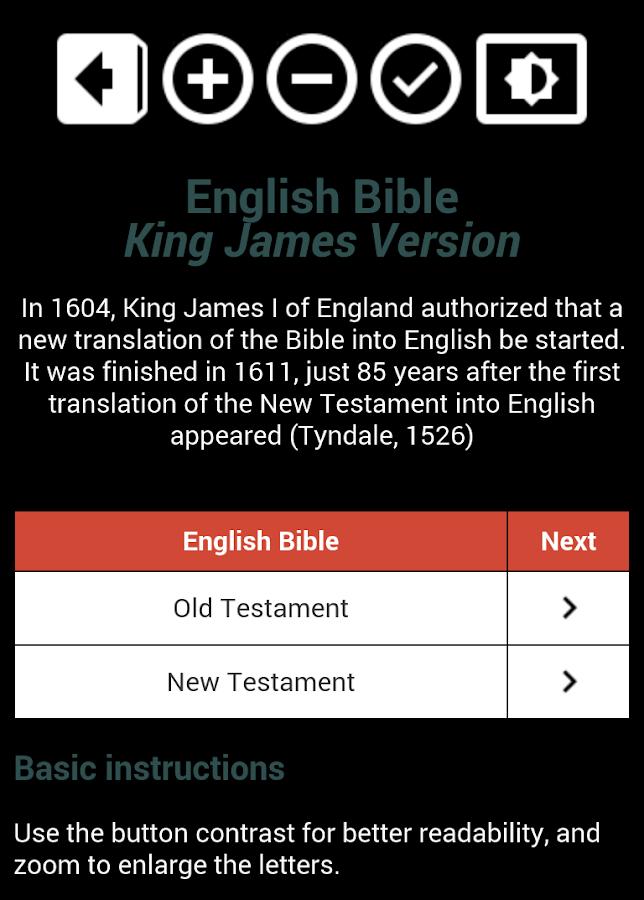 king james version bible app