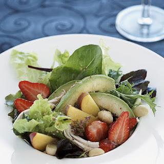 Peach and Strawberry Chicken Salad