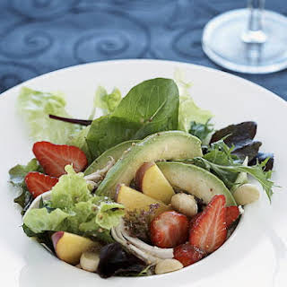 Peach and Strawberry Chicken Salad.