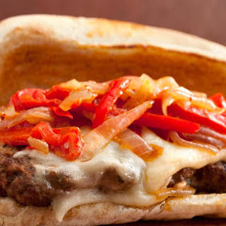 Italian Venison-Sausage Sandwiches with Peppers and Onions.