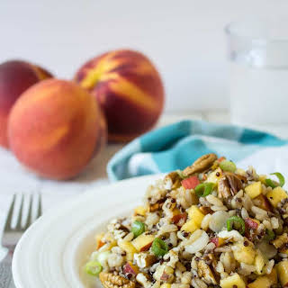 Quinoa, Brown Rice and Peach Salad.