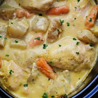 Crock Pot Creamy Ranch Chicken.