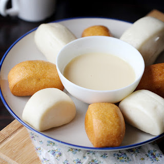 Fried Mantou with condensed milk.