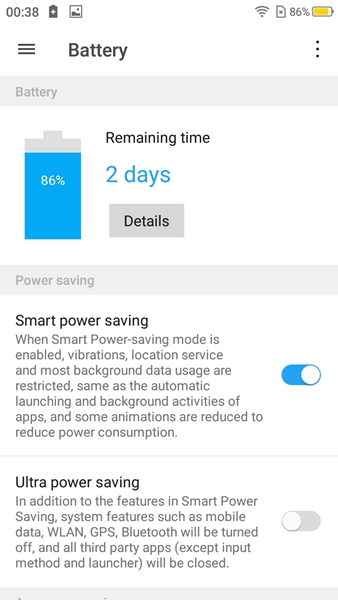 Mode Power Saving