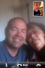 Photo: FaceTime with Grandma & Grandpa