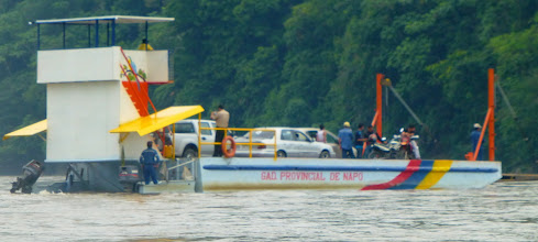Photo: The ferry across the Napo from Punto