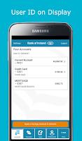 Screenshot of Bank of Ireland Mobile Banking