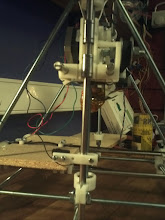 Photo: Endstop at place, will adjust when Heat-bed is there. Wobble Stabilizer on place 2!