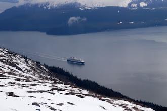 Photo: Cruise ship sailing up Gastineau Channel
