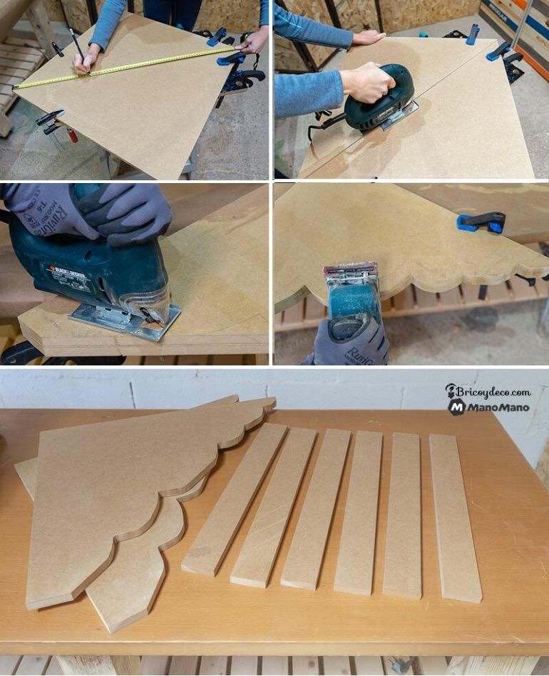 cut the pieces of plywood to make your bookcase