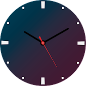 Watch Face blue With Red