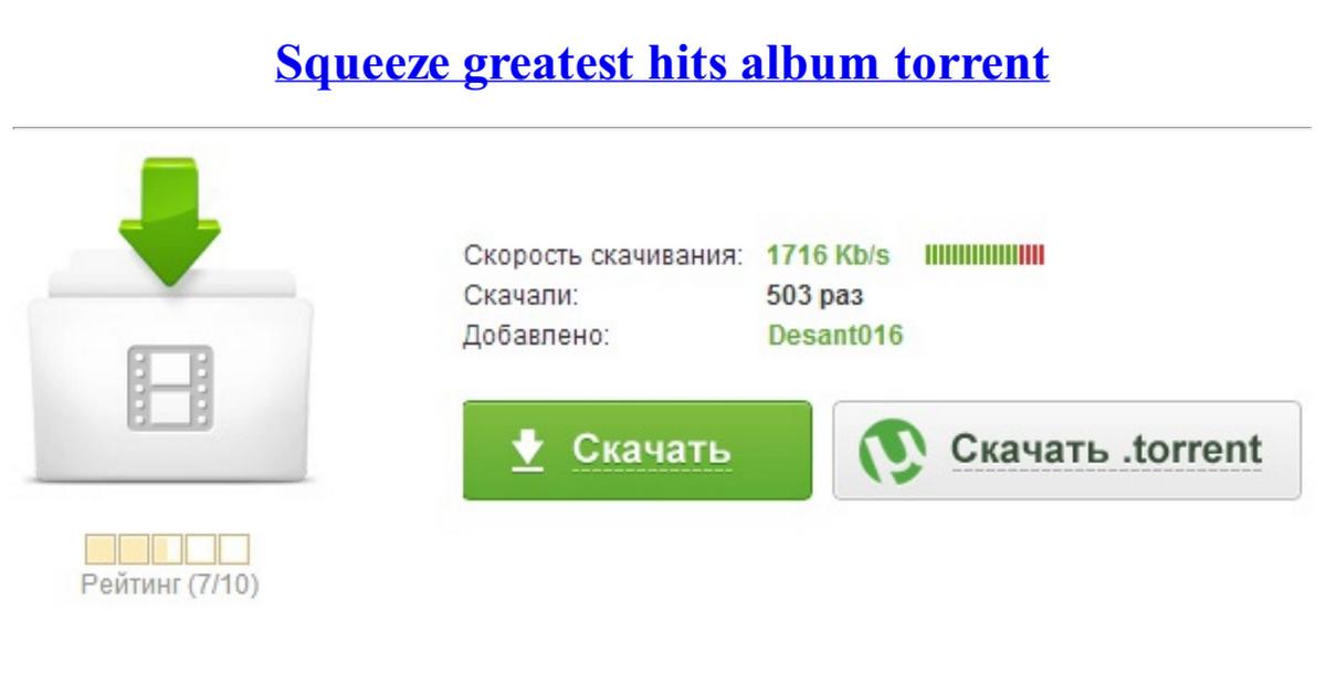 squeeze greatest hits album torrent
