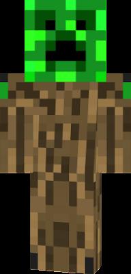 tree with a creeper head