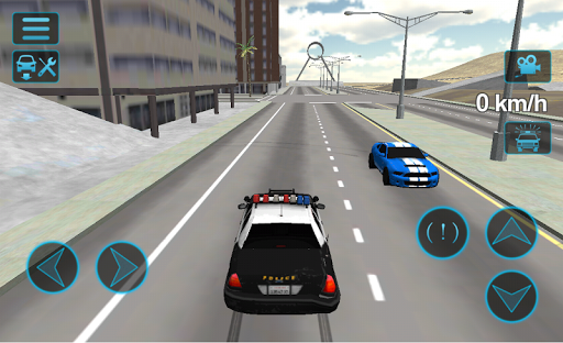 Fast Police Car Driving 3D  captures d'écran 1