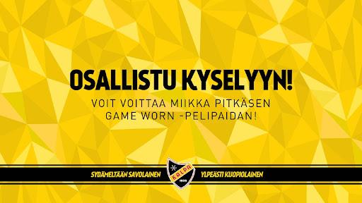 Osallistu kyselyyn! Voit voittaa Miikka Pitkäsen Game Worn -pelipaidan!