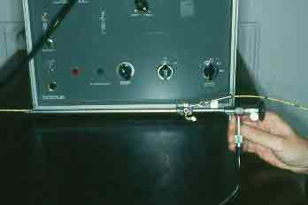 Transcervical intra-uterine insemination can also be accomplished with the aid of a rigid fiberoptic endoscope connected to a cold light source and a canine 6 - 8 Fr gauge urinary catheter.