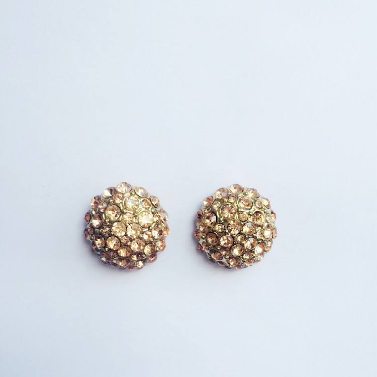 E002 - P. Jeweled Hydrangea Earrings by House of LaBelleD.