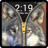 Zipper Lock Screen Wolf