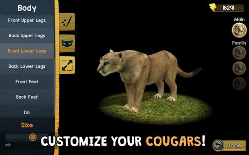 Wild Cougar Sim 3D apkpoly screenshots 15
