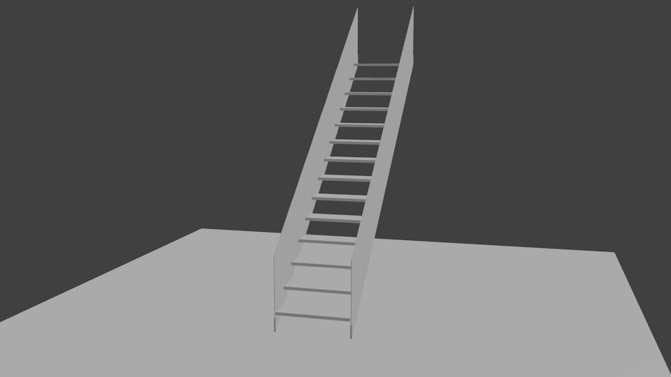 Straight Staircase with Array Modifier 4