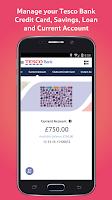 Screenshot of Tesco Bank Mobile Banking
