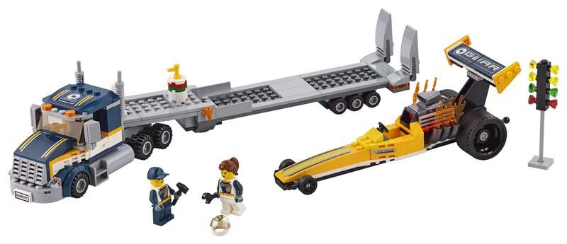 Contenido de Lego® 60151 Transportador del Dragster