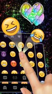 Sparkle Rainbow Keyboard Theme - náhled