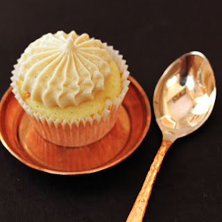 Vanilla - Butterscotch Cupcakes with Expresso Buttercream Frosting